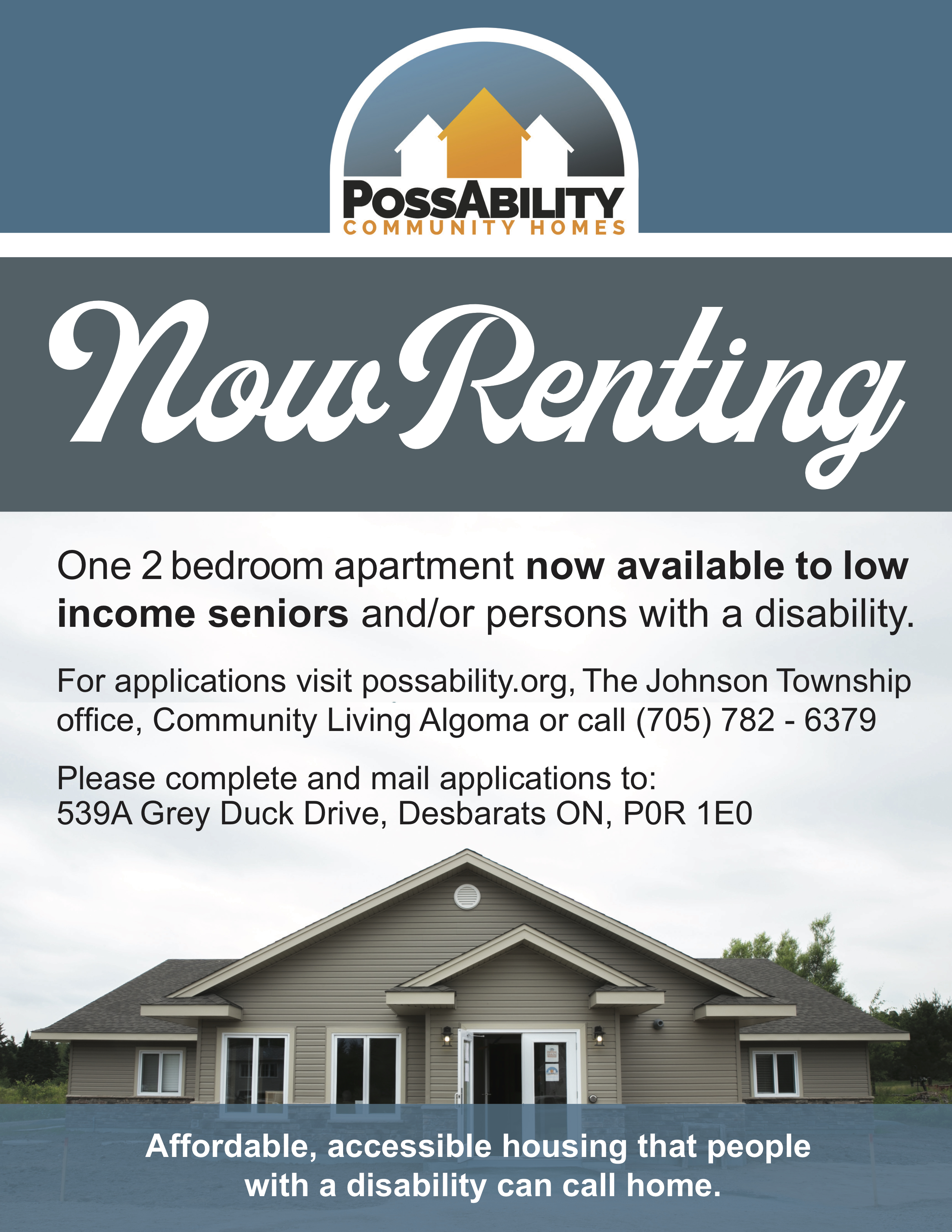 New Tenant Ad for low income seniors